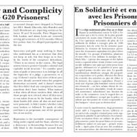 Solidarité avec les prisonnières et prisonniers du G20