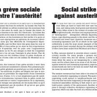 La grève sociale contre l'austérité!