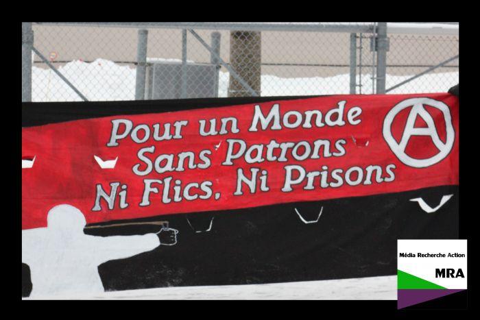 Compte rendu de la manif de bruit anti-carcérale du nouvel an devant les prisons à Montréal