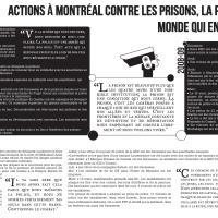 Actions à Montréal contre les prisons, la police, et le monde qui en ont besoin