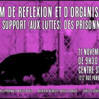 Forum de réflexion et d'organisation sur le support (aux luttes) des prisonnièr.es