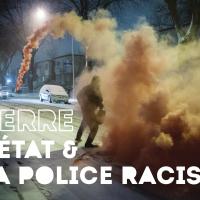 Série d'affiches : guerre à l'État et à la police racistes