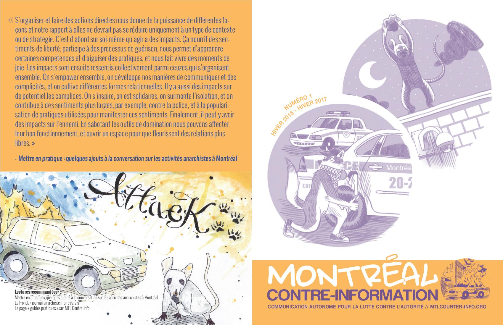 Montreal Contre Info Est Maintenant Une Publication Montreal Counter Information