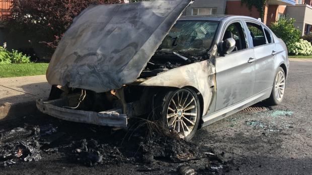 Incendie de 2 chars de luxe dans St-Henri
