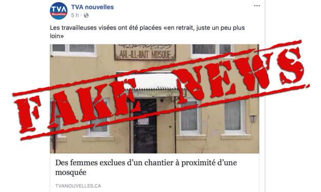 La fausse nouvelle de TVA et la panique islamophobe à l'extrême droite