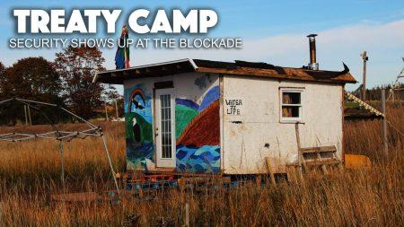 Treaty Camp : des agents de sécurité se pointent au blocage