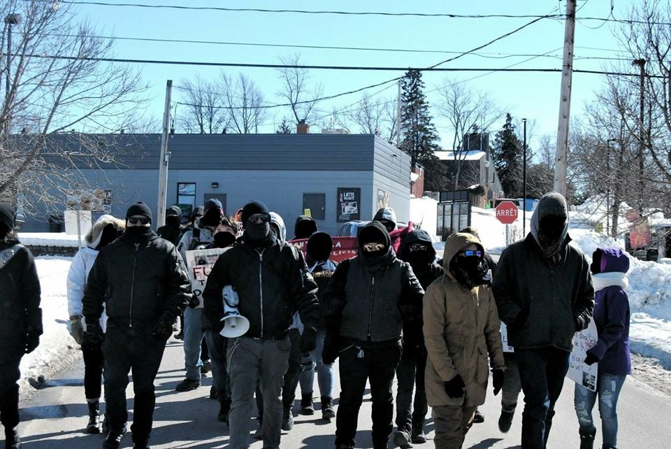 Demonstration Against the Police in Maniwaki