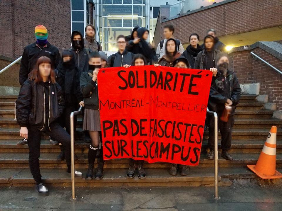 Solidarité Montréal-Montpellier : Pas de fascistes sur les campus