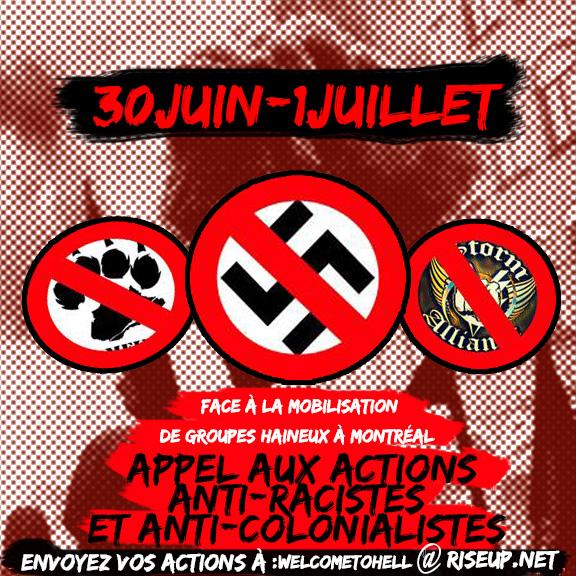 Bienvenue en enfer : Appel à l'action le 30 juin et 1er juillet