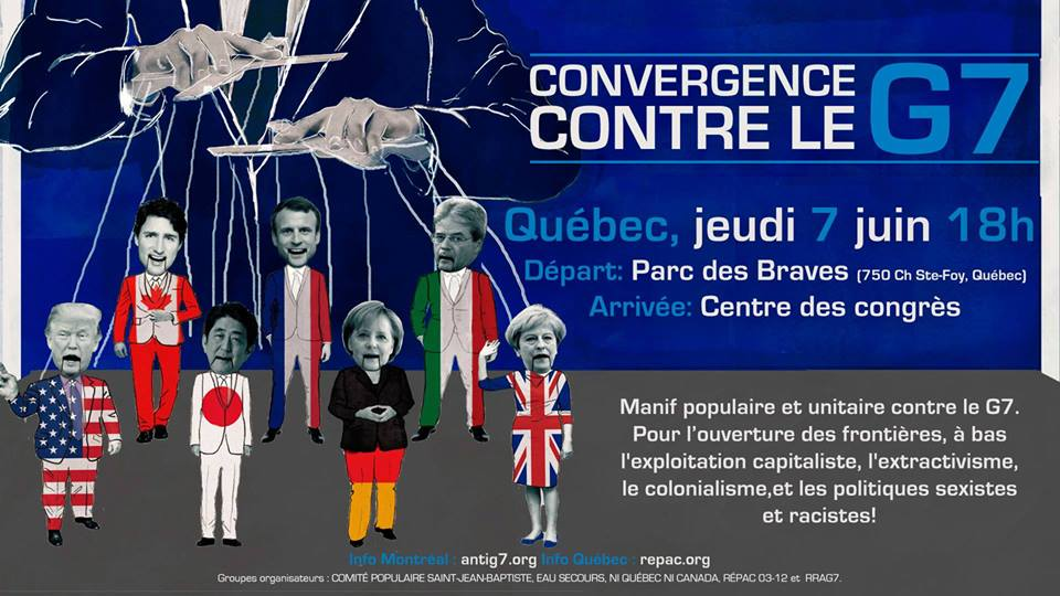 Manifestation du 7 juin : populaire et unitaire contre le G7 et pour l'ouverture des frontières !