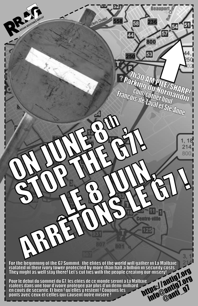 Le 8 juin, stoppons le G7 !
