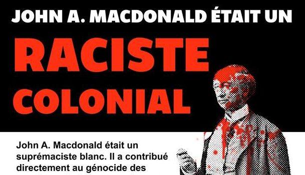 Le monument de John A. Macdonald (encore) vandalisé à Montréal