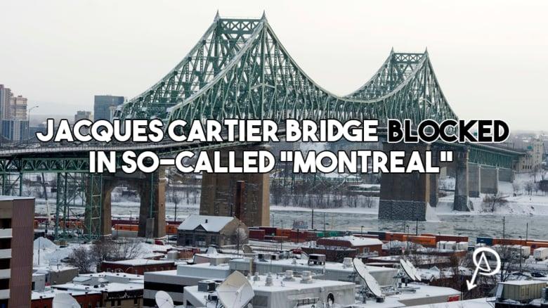 Le Pont Jacques-Cartier bloqué