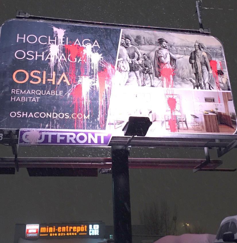 Attaques contre les panneaux publicitaires d'OSHA Condo