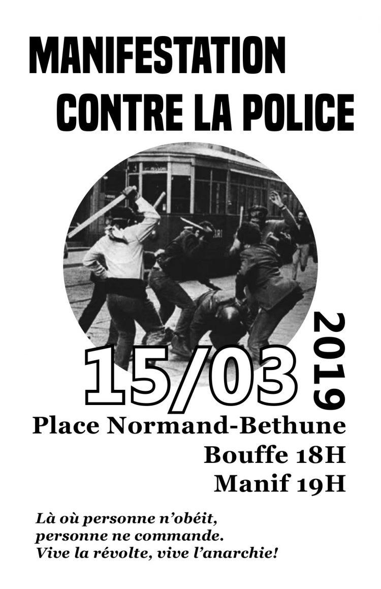 Le 15 mars contre la police