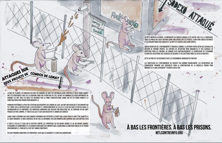 À bas les frontières, à bas les prisons : Nouvelle affiche de communiqué