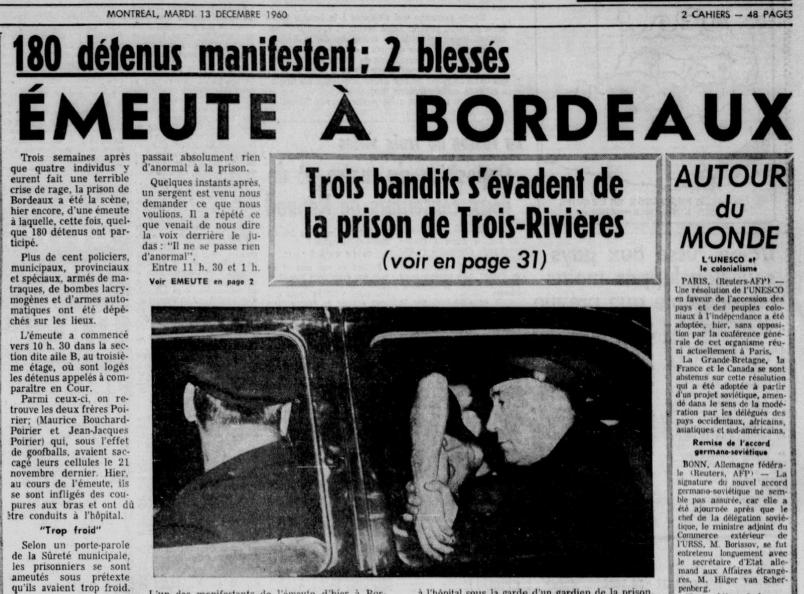 Histoire des émeutes carcérales au Québec