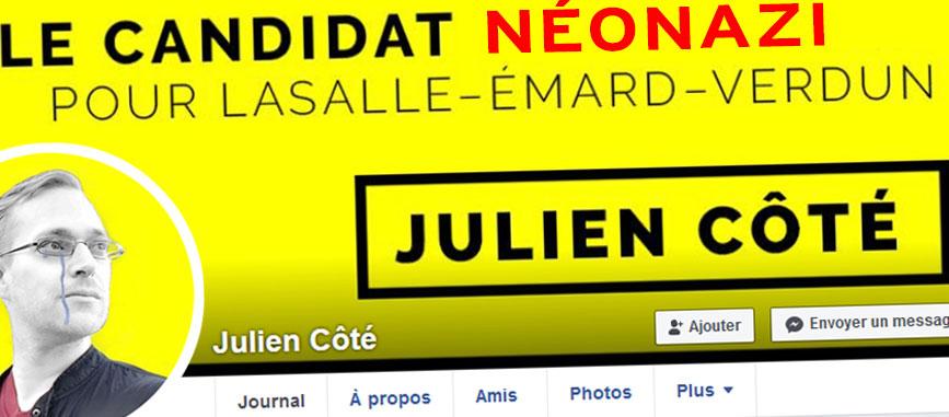 Julien Côté Lussier : l'excès d'orgueil du néonazi qui a voulu jouer la game électorale