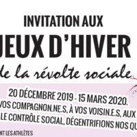 Invitation aux Jeux d'hiver de la révolte sociale