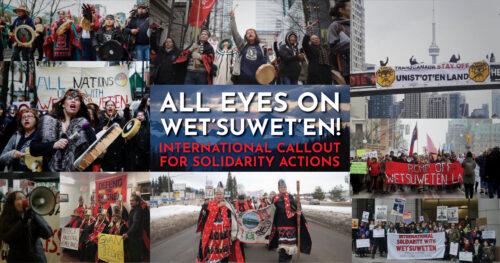 Tous les regards sur les Wet'suwet'en : Appel à une semaine de solidarité internationale !