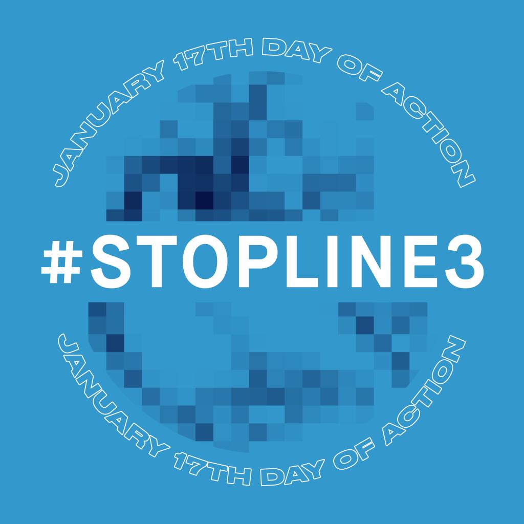 Journée d'action le 17 janvier #StopLine3