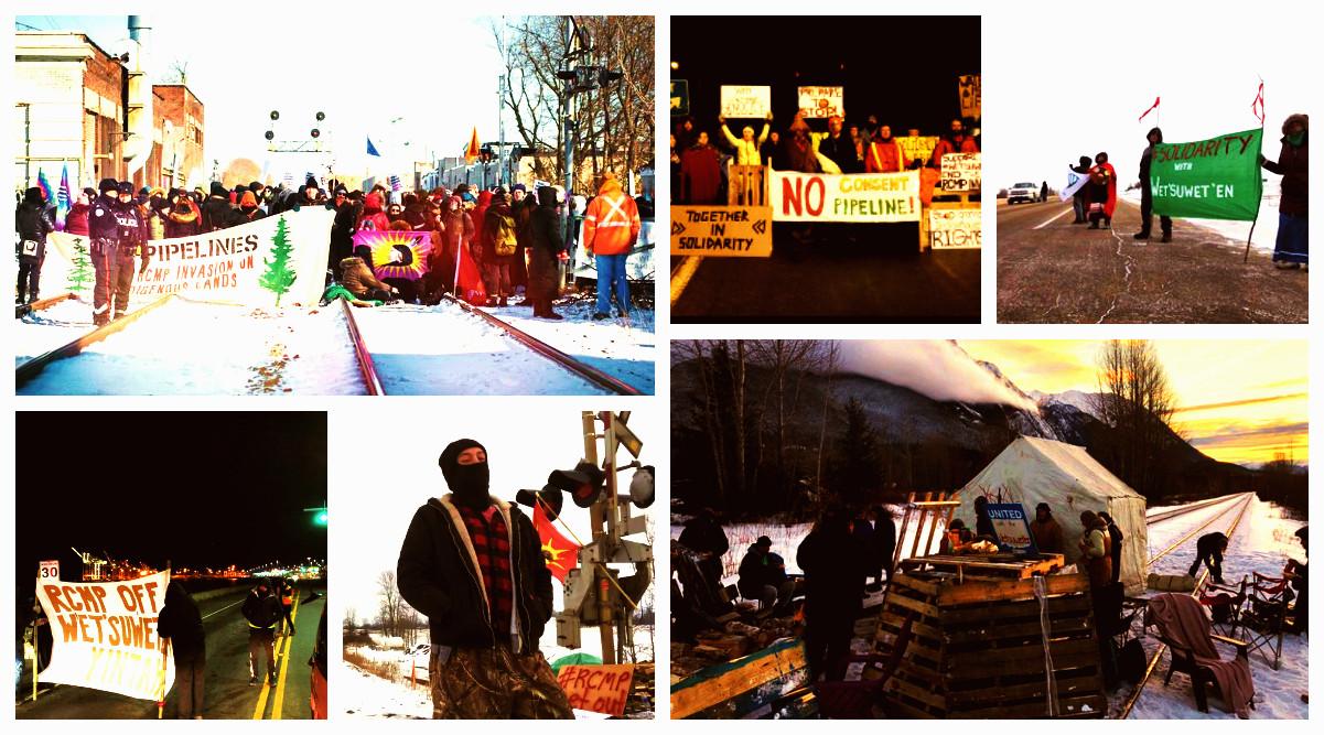 #ShutDownCanada : Une énorme vague de solidarité avec les Wet'suwet'en perturbe les infrastructures canadiennes