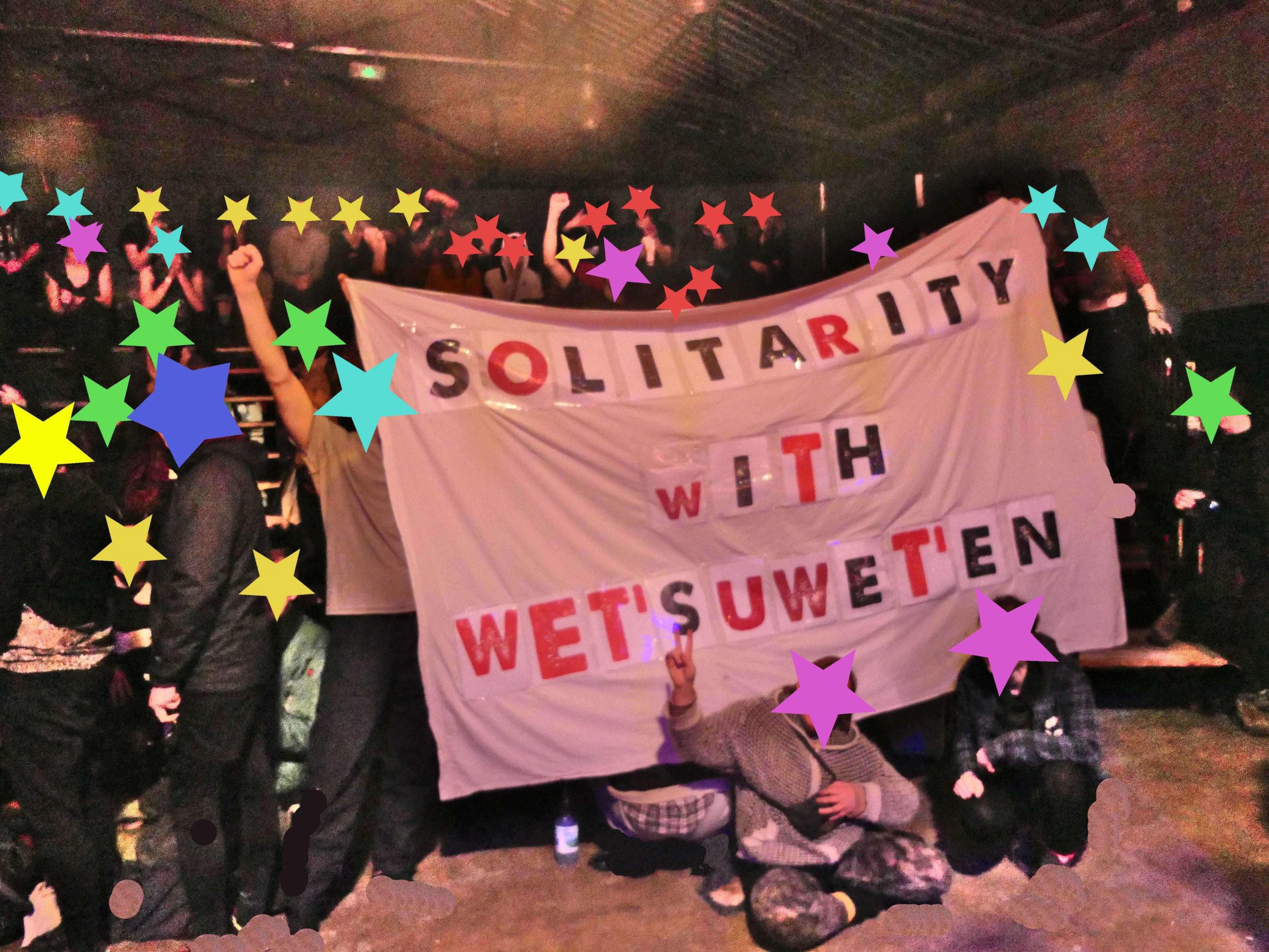 Solidarité avec les Wet'suwet'en depuis la France