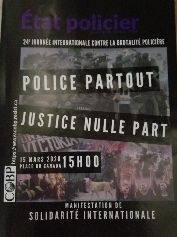 "Journal ""ÉTAT POLICIER"" 2020"