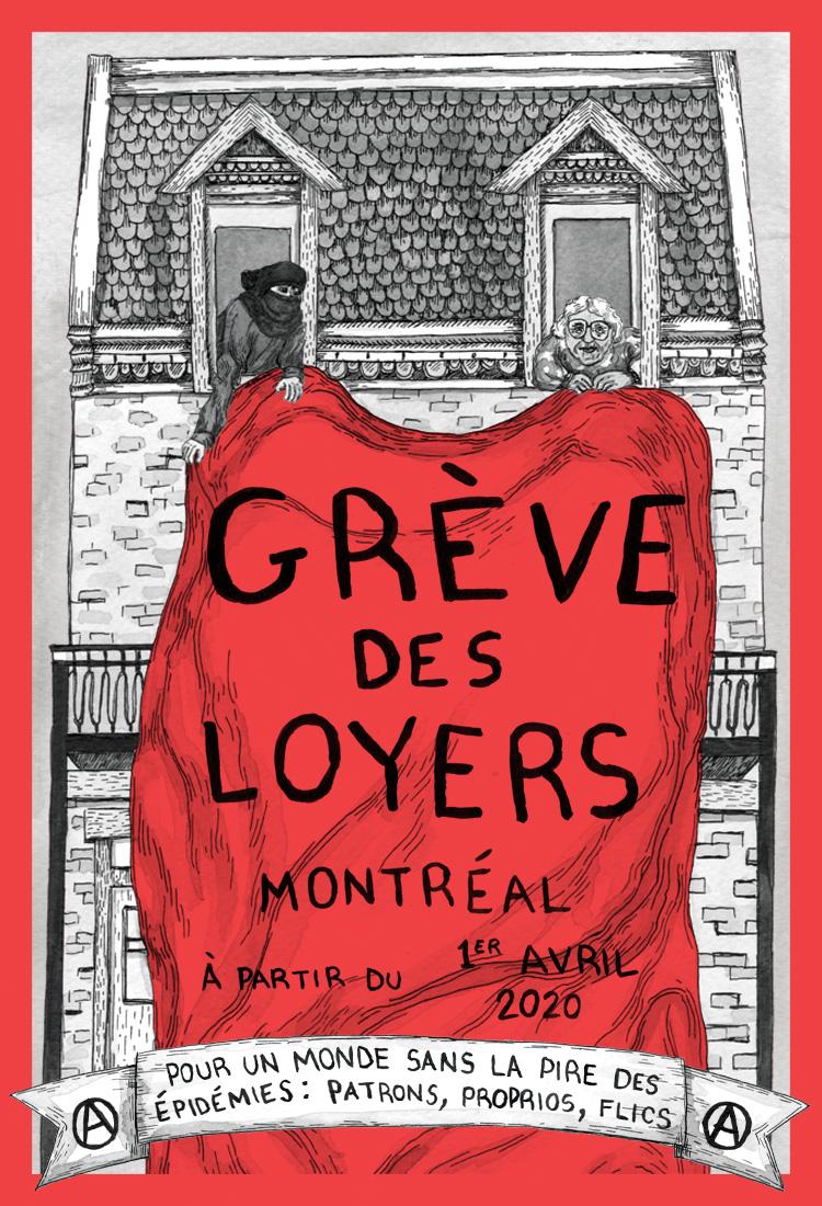 Grève des loyers à Montréal à partir du 1er avril 2020