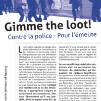 Contre la police - Pour l'émeute
