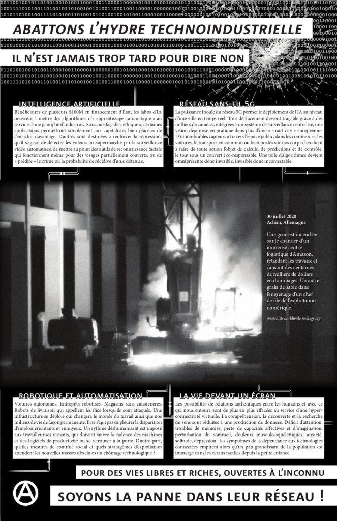 Affiche: Abattons l'hydre technoindustrielle