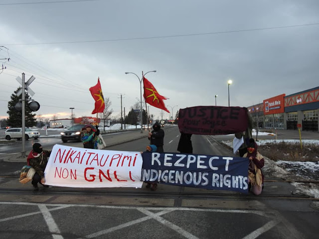 Joliette : Blocage ferroviaire pour un monde sans pipeline