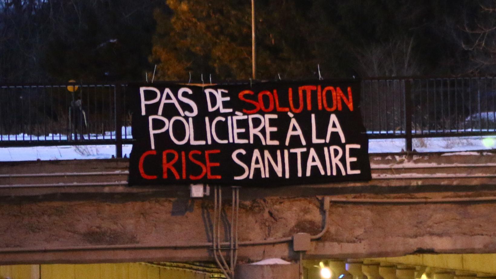 Pas de solution policière à la crise sanitaire !