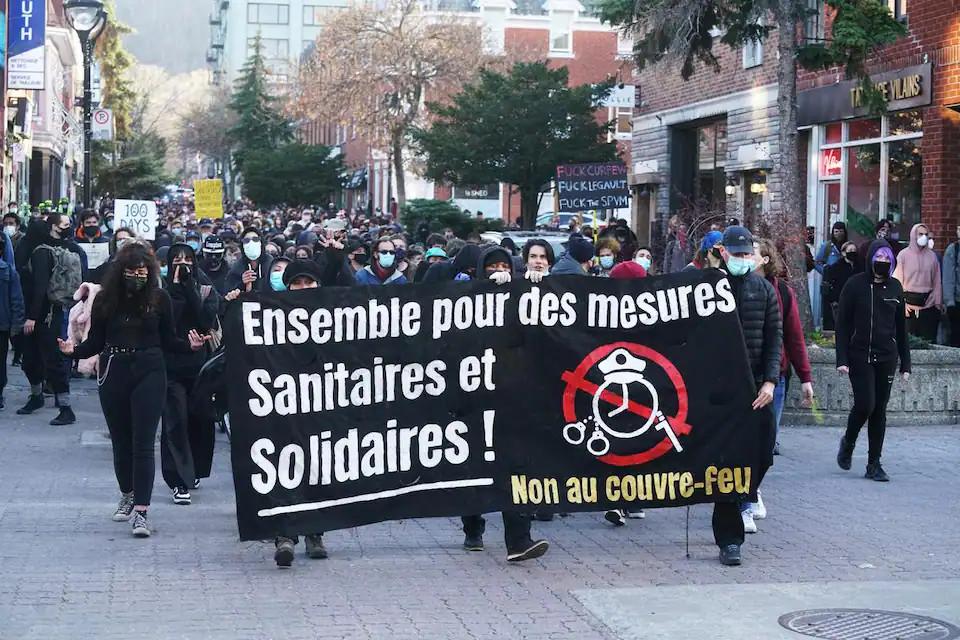 Retour sur la manifestation large contre le couvre-feu du 18 avril