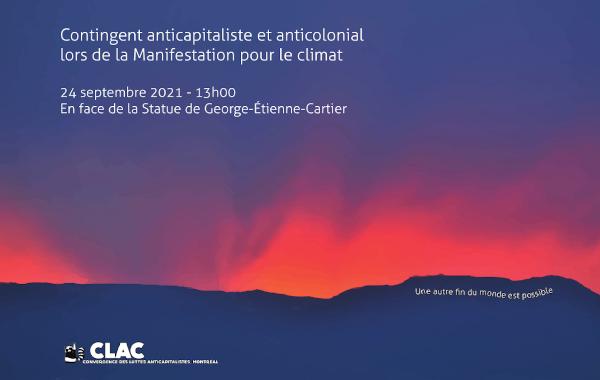 Appel à un contingent anticapitaliste lors de la manif pour le climat du 24 septembre