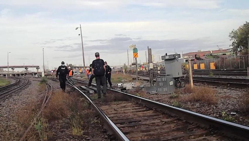 Video: blocage des trains le 9 octobre en solidarité avec Gidimt'en
